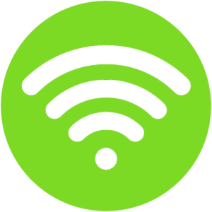 wifi fondo verde